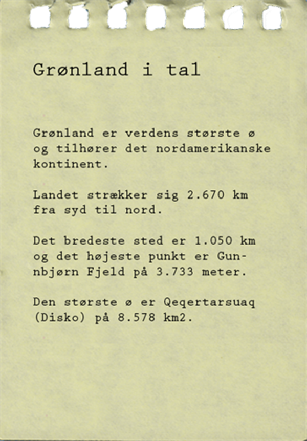 Note Groenland I Tal